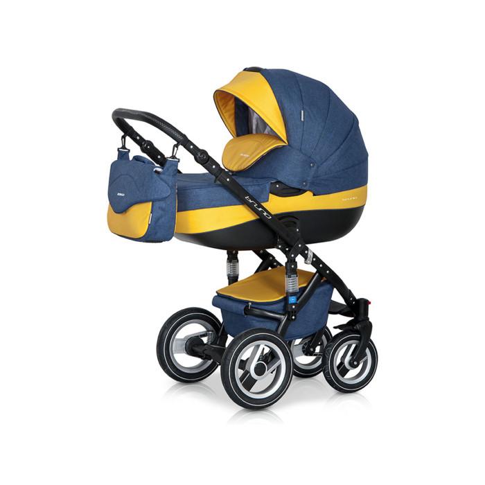 Коляска Riko Brano 2 в 1Brano 2 в 1Модная, удобная и функциональная – новая модель в современном, стильном дизайне. Коляска Brano 2 в 1 обеспечит крохе самые лучшие условия для увлекательных прогулок и комфортного полноценного сна во время прогулок на свежем воздухе. Малыш будет прекрасно себя чувствовать в просторной люльке, а комфортное прогулочное сиденье для подросшего ребенка предоставит наилучшие условия для изучения окружающего мира. Эта модель коляски на алюминиевой раме обладает отличной проходимостью за счет легкого хода и надувных колес. Коляска маневренная благодаря поворотным передним колесам. Современная система амортизации колес позволяет легко преодолевать любые препятствия на прогулке, и при этом сохраняется мягкость хода, обеспечивая спокойный сон вашего малыша.  Коляска Brano 2 в 1 укомплектована просторной и комфортной люлькой и прогулочным блоком, которые легко устанавливаются на раму как по ходу, так и против хода движения, т.е. «лицом к маме».  Люлька: Просторная пластиковая люлька с жестким дном Верхняя часть из водонепроницаемой ткани Не продуваемые борта Регулируемый по высоте подголовник Удобная ручка, расположенная на капюшоне для переноски, обтянута эко-кожей Бесшумный механизм регулировки капюшона Капюшон с открывающейся на молнии секцией, со встроенной москитной сеткой для вентиляции Высокий отворот на накидке на люльку защитит новорожденного от непогоды Внутренняя вкладка выполнена из 100% хлопка, легко снимается для стирки Матрасник для новорожденного Возможность установки люльки в 2 положениях (лицом к маме, или лицом по направлению движения коляски)  Прогулочный блок: Четыре положения регулировки спинки, вплоть до горизонтального Регулируемая подножка Регулируемый капюшон Пятиточечные ремни безопасности с мягкими плечевыми накладками Съемный бампер Практичная накидка на ножки Возможность установки прогулочного блока в 2 положениях (лицом к маме, или лицом по направлению движения коляски)  Шасси: Алюминиевая рама Удобный и простой м
