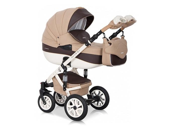 Коляска Riko Brano Ecco 3 в 1Brano Ecco 3 в 1Детская коляска Riko Brano Ecco 3 в 1 станет вашим идеальным спутником во время прогулок с новорожденным в любую погоду. Получите истинное удовольствие от высокой проходимости детской коляски Riko Brano Ecco (Рико Брано Эко) 3 в 1. Ее массивные колеса на подшипниках уверенно едут в любых условиях, а 4 амортизатора сглаживают все неровности, гарантируя необычайный комфорт для маленького пассажира.  Характеристики: транспортная система для малышей 0-3 года  внешняя обивка из эксклюзивной водоотталкивающей ткани со вставками из воздухопроницаемой эко-кожи  крепление съемных модулей на шасси в удобном для вас направлении.  Шасси:  алюминиевая рама с 4-мя регулируемыми по жесткости амортизаторами настройка высоты ручки, покрытой эко-кожей — 0,77-1,21 метра  надежный центральный тормоз  пара передних колес снабжена опцией поворотов, с блокировкой  четыре колеса разного диаметра спереди и сзади, на подшипниках  простое сложение по типу «книжки»  закрытая глубокая корзина для вещей.  Люлька:  пластиковая люлька с высокими бортами  короб длиной 80 см  несколько положений подголовника  ортопедическое дно с мягкой обивкой из 100 %-й х/б ткани  пластиковая ручка посередине капюшона для безопасной переноски  плотная ветронепродуваемая накидка с высоким отворотом  объемный регулируемый капюшон с большим вентиляционным отсеком Прогулочный блок:  4-х позиционная спинка фиксируется в положении «для сна»  несколько положений удобной опоры для ног  поручень отстегивается с одной стороны или полностью снимается пятиточечный страховочный ремень  чехол на ножки из теплого материала.  Автокресло 0+:  для деток с массой тела не более 13 кг  можно использовать, как переноску, стульчик для кормления, качалку ремешки безопасности.   В комплекте:  противомоскитная сетка  чехол от снега и дождя  клеенчатый матрасик  сумка для родителей. муфта для рук Спальный блок: длина — 80.0 см, высота бортов — 22.0 см, ширина — 37.0 см Прогулка: высота спинки кре