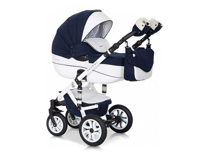 Коляска Riko Brano Ecco 3 в 1Brano Ecco 3 в 1Детская коляска Riko Brano Ecco 3 в 1 станет вашим идеальным спутником во время прогулок с новорожденным в любую погоду. Получите истинное удовольствие от высокой проходимости детской коляски Riko Brano Ecco (Рико Брано Эко) 3 в 1. Ее массивные колеса на подшипниках уверенно едут в любых условиях, а 4 амортизатора сглаживают все неровности, гарантируя необычайный комфорт для маленького пассажира.  Характеристики: транспортная система для малышей 0-3 года  внешняя обивка из эксклюзивной водоотталкивающей ткани со вставками из воздухопроницаемой эко-кожи  крепление съемных модулей на шасси в удобном для вас направлении.  Шасси:  алюминиевая рама с 4-мя регулируемыми по жесткости амортизаторами настройка высоты ручки, покрытой эко-кожей — 0,77-1,21 метра  надежный центральный тормоз  пара передних колес снабжена опцией поворотов, с блокировкой  четыре колеса разного диаметра спереди и сзади, на подшипниках  простое сложение по типу «книжки»  закрытая глубокая корзина для вещей.  Люлька:  пластиковая люлька с высокими бортами  короб длиной 80 см  несколько положений подголовника  ортопедическое дно с мягкой обивкой из 100 %-й х/б ткани  пластиковая ручка посередине капюшона для безопасной переноски  плотная ветронепродуваемая накидка с высоким отворотом  объемный регулируемый капюшон с большим вентиляционным отсеком Прогулочный блок:  4-х позиционная спинка фиксируется в положении «для сна»  несколько положений удобной опоры для ног  поручень отстегивается с одной стороны или полностью снимается пятиточечный страховочный ремень  чехол на ножки из теплого материала.  Автокресло 0+:  для деток с массой тела не более 13 кг  можно использовать, как переноску, стульчик для кормления, качалку ремешки безопасности.   В комплекте:  противомоскитная сетка  чехол от снега и дождя  клеенчатый матрасик  сумка для родителей.  Спальный блок: длина — 80.0 см, высота бортов — 22.0 см, ширина — 37.0 см Прогулка: высота спинки кресла — 41.0 см