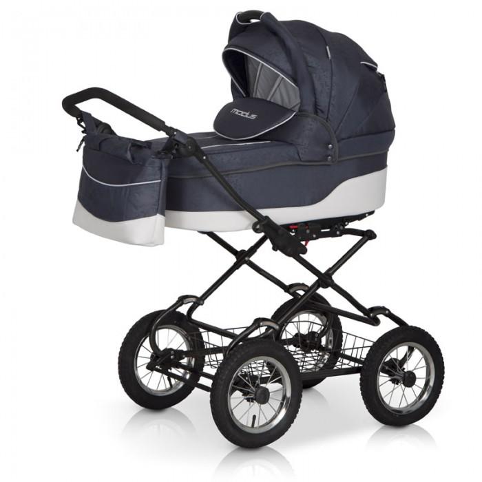 Коляска Riko Modus Classic 2 в 1Modus Classic 2 в 1Коляска Riko Modus Classic 2 в 1 - универсальная детская коляска MODUS 2 в 1 от Польского производителя Riko предназначена для детей с рождения и до 3-х лет.   В комплект коляски входит спальная люлька для новорожденного и прогулочный блок для подросшего малыша, которые можно устанавливать по ходу движения или против хода движения. Люлька коляски  комфортная и удобная, сделана внутри из 100 % хлопка. Дно люльки – жесткое, это очень важно для правильного формирования позвоночника новорожденного малыша.   Прогулочное сидение легко устанавливается на раму, имеет пятиточечные ремни безопасности, съемный бампер, регулируемое положение спинки. Для удобства родителей предусмотрены регулировка высоты ручки, корзина для покупок и сумка для мамы.   Колеса надувные, камерные, с современной системой амортизации. Передние поворотные колеса с фиксатором делают эту модель коляски маневренной и легкоуправляемой. Задние колеса, обеспечивают хорошую проходимость и позволяют преодолевать любые препятствия по бездорожью на прогуле.   Характеристики:  Непромокаемая тканевая люлька с жестким дном  Регулируемый по высоте подголовник  Вентилируемое смотровое окошко в капюшоне  Удобная ручка для переноски, расположенная  на капюшоне  Регулируемый капюшон  Внутренняя вкладка выполнена из 100% хлопка, легко снимается для стирки  Матрац  для новорожденного  Возможность установки люльки в 2 положениях (лицом к маме, или лицом по направлению движения коляски).   Размеры внутренние люльки:  длина 76 см  ширина 37 см  высота 20 см  вес: 4.73 кг  Размеры прогулочного блока:  ширина 36 см  длина  84 см  вес: 4.3 кг  Рама и колеса: Удобный и простой механизм складывания коляски  Легкий и простой механизм снятия и установки съемных модулей (люльки или прогулочного блока)  Регулируемая по высоте ручка  Амортизаторы с регулировкой жесткости  Колеса надувные на подшипниках  Центральный тормоз  Легкосъёмные колёса для удобства чистки и хранения.   Вес рам