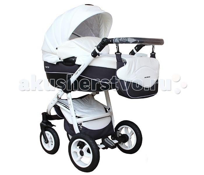 Коляска Riko Nano 2 в 1Nano 2 в 1Коляска Riko Nano 2 в 1 - элегантная коляска с неповторимым дизайном для детей от рождения до 3-х лет. Многофункциональная транспортная система Riko Nano 2 в 1, обеспечивающая комфорт и безопасность на прогулках с Вашим ребенком. Детская универсальная коляска изготовлена с использованием высококачественных легких дышащих текстильных материалов, имеет небольшой вес и отличную маневренность на дороге.  Люлька Riko: Просторная пластиковая люлька Обивка и матрасик выполнены из 100% хлопка Верхняя часть из водонепраницаемой ткани Регулируемый подголовник Жесткое дно Можно использовать как люльку-качалку в домашних условиях На капюшоне ручка для переноски Утепленный капюшон с вентиляционным окошком Возможность установки в 2 положениях (лицом к маме , либо лицом по направлению движения) Размеры внутренние: длина 80 см, ширина 37 см, высота 22 см. Вес 5.2 кг  Прогулочный блок Riko: Четыре положения регулировки спинки , вплоть до лежачего Регулируемая подножка Съемный бампер Возможность установки в 2 положениях (лицом к маме , либо лицом по направлению движения) Размеры сиденья: ширина 32 см, глубина 25 см, высота спинки 41 см, длина подножки 18 см. Вес 5.2 кг.  Шасси Riko: Алюминиевая рама Простой механизм складывания и раскладывания коляски Система складывания - книжка Ручка обтянута эко-кожей с возможностью регулировки по высоте Амортизаторы с регулировкой жесткости Колеса надувные на подшипниках Центральный тормоз Большая закрытая корзина для покупок Регулировки ручки (от земли) : 77 см - 121 см  Размеры: Разложенная рама с колесами: длина 101 см, ширина 59 cм, высота 112 см Вес: рама 9 кг, рама+люлька 14.2 кг, рама+прогулочный блок 14.2 кг<br>