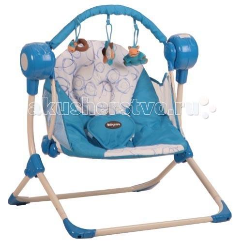 Электронные качели Baby Care BalancelleBalancelleНовые стильные электронные качели для новорожденных Balancelle от Baby Care предназначены для детей до 9 кг.  Качели легко складываются одной рукой, суперкомпактны и отлично приспособлены для хранения и транспортировки.  Качели оснащены музыкальным блоком с таймером. Блок проигрывает 16 мелодий на 2-х уровнях громкости. Имеется 5 скоростей укачивания. Электрокачели могут работать как от сети, так и на батарейках. Кроме того, в комплекте съемная дуга с 3-мя игрушками.  Обивка качелей легко снимается для чистки. Для безопасности качели оснащены 5-точечными ремнями. По краям обивки имеется защитная сетка.  Особенности: музыкальный блок работает от сети и батареек; 2 положения регулировки наклона спинки; 16 мелодий, 2 уровня громкости; дуга с игрушками; 5-точечные ремни безопасности  Размеры и вес: Размеры качелей: 50x61x60 см Размеры сидения: 48x68 см Вес: 3,2 кг Вес упаковки: 10,8 кг Возраст: от рождения до 8-9 месяцев. Максимальная нагрузка: 9 кг.<br>