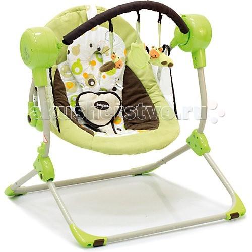 Качели электронные Baby Care BalancelleBalancelleНовые стильные электронные качели для новорожденных Balancelle от Baby Care предназначены для детей до 9 кг.  Качели легко складываются одной рукой, суперкомпактны и отлично приспособлены для хранения и транспортировки.  Качели оснащены вибро-музыкальным блоком с таймером. Блок проигрывает 16 мелодий на 2-х уровнях громкости. Имеется 5 скоростей укачивания. Электрокачели могут работать как от сети, так и на батарейках. Кроме того, в комплекте съемная дуга с 3-мя игрушками.  Обивка качелей легко снимается для чистки. Для безопасности качели оснащены 5-точечными ремнями. По краям обивки имеется защитная сетка.  Особенности: вибромузыкальный блок работает от сети и батареек; 2 положения регулировки наклона спинки; 16 мелодий, 2 уровня громкости; дуга с игрушками; 5-точечные ремни безопасности  Размеры и вес: Размеры качелей: 50x61x60 см Размеры сидения: 48x68 см Вес: 3,2 кг Вес упаковки: 10,8 кг Возраст: от рождения до 8-9 месяцев. Максимальная нагрузка: 9 кг.<br>