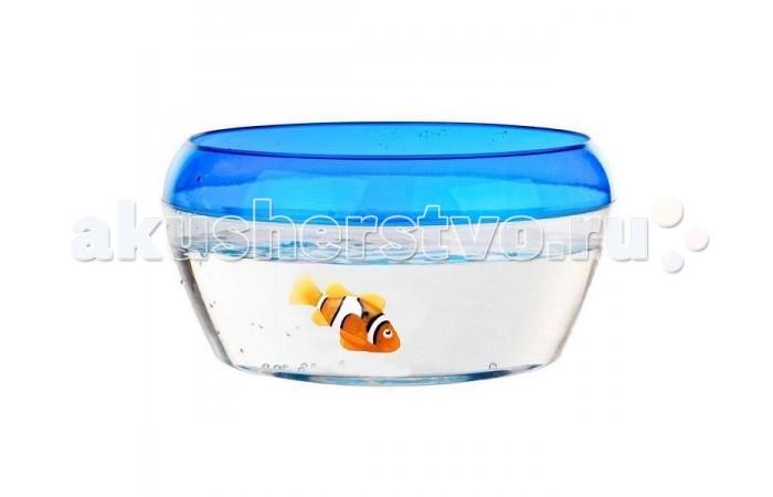 Интерактивная игрушка Robofish РобоРыбка Клоун с аквариумомРобоРыбка Клоун с аквариумомИнновационная высокотехнологичная игрушка. Активируется в воде. Имитирует движения и повадки рыбы.  Рыбка клоун при погружении в аквариум или другую емкостью с водой РобоРыбка начинает плавать – опускаясь ко дну и поднимаясь к поверхности воды.   Игрушка работает от двух алкалиновых батареек А76 или RL44, которые входят в комплект (две установлены в игрушку и 2 запасные)<br>