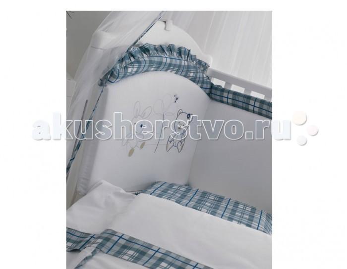 Комплект в кроватку Roman Baby Country (5 предметов)Country (5 предметов)Комплект постельного белья Roman Baby Country - элегантный сет от итальянского производителя. Белье сшито из 100% хлопка, украшено красивыми аппликациями в виде сердечка. На этом постельном белье малыш будет видеть только сладкие сны, а его сон будет спокойным и продолжительным.   Особенности:    Использовались только нетоксичные красители;  Украшено аппликациями;  Белье можно стирать при температуре 30 гр в режиме бережной стирки;  Изготовлено только из натуральных гипоаллергенных материалов, с использованием нетоксичных красителей;   В комплекте:   Простынь-одеяльце 120 х 160 см  Наволочка 40 х 60 см  Простынь на резинке 110 х 180 см  Бортик на половину кроватки  Подушка 40 х 60 см   Материал: 100% хлопок<br>