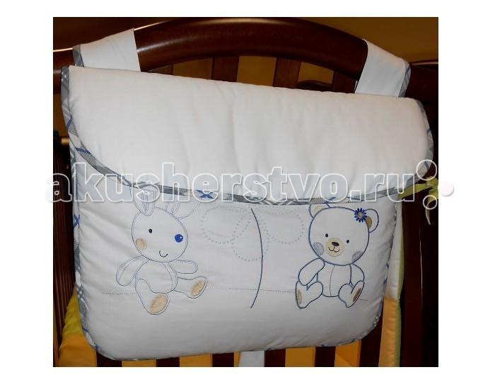 Roman Baby Сумка на кроватку CountryСумка на кроватку CountryСумка на кроватку Roman Baby Country замечательный аксессуар, в котором вы сможете хранить и пижаму малыша, и игрушки вашего крохи (все зависит от вашего желания). Идеально вписывается в общий интерьер комнаты и является ее неотъемлемой частью.   Особенности:    удобная сумка для кровати, куда можно положить игрушки и милые вещицы  сумка отличается высоким качеством пошива  удобство и простота в использовании  крепится к кровати с помощью лент  благодаря устойчивым красителям, сумка сохраняет насыщенность красок и безупречный вид после стирки  качество материала обеспечивает лёгкость стирки и долговечность   Материал: 100% хлопок<br>
