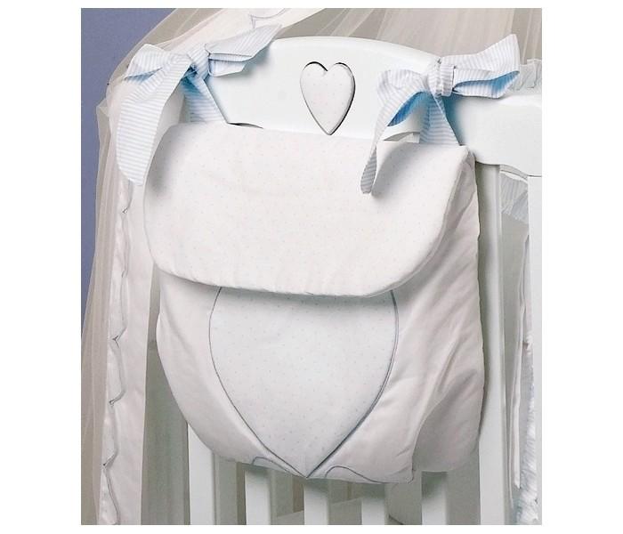 Roman Baby Сумка на кроватку Cuore di MammaСумка на кроватку Cuore di MammaУдобная сумка на кроватку Roman Baby Cuore di Mamma с оригинальной вышивкой - куда можно положить игрушки и детские принадлежности  100% хлопок<br>