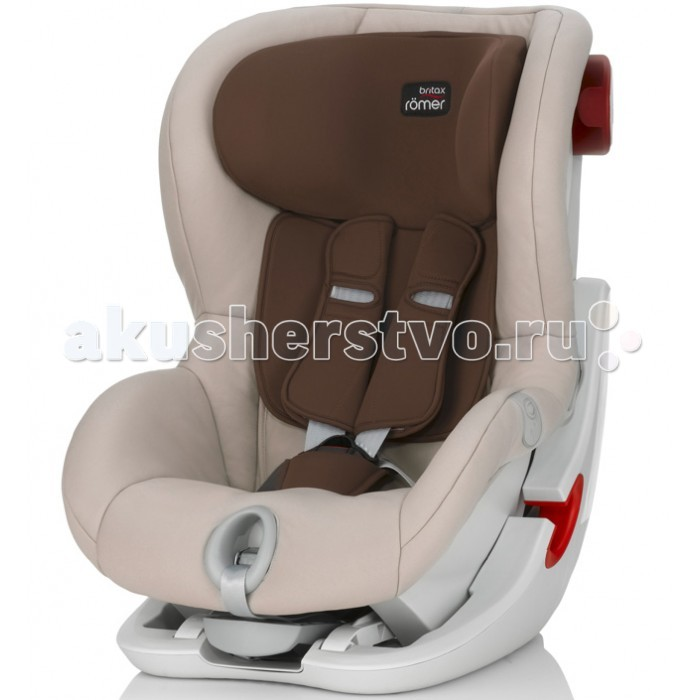 Автокресло Britax Roemer King IIKing IIДетское автокресло Britax Roemer KING II оснащено уникальной системой донатяжения штатного ремня безопасности в салоне автомобиля, которая обеспечивает простую, надежную и прочную установку кресла в салоне.  Характеристики:  - Автокресло группы 1 (для детей от 9 до 18 кг)  - Быстрая и легкая установка в автомобиле с помощью штатного ремня безопасности  - 5-точечные ремни безопасности, регулируемые одной рукой  - Угол наклона чаши регулируется в 4-х положениях для еще большего комфорта - Система наклона кресла вперед обеспечивает улучшенный доступ и обзор при установке ремня безопасности автомобиля  - Глубокие мягкие боковины создают оптимальную защиту при боковых столкновениях  - Мягкие плечевые накладки на ремни  - Съемный моющийся чехол<br>