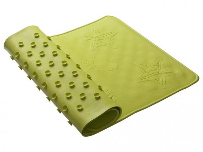 Коврик Roxy Антискользящий резиновый для ванны 34х74 смАнтискользящий резиновый для ванны 34х74 смКоврик для ванны Roxy-kids антискользящий обеспечит комфортное и безопасное купание вашего малыша в ванне. Мягкие присоски надежно прикрепляют коврик ко дну ванны и не дают ему скользить, как бы активно ни двигался ребенок. Специальное покрытие с рельефными элементами препятствует скольжению ног или тела по коврику и обеспечивает массажные функции. Резиновый коврик полностью соответствует всем требованиям безопасности детской продукции.  Особенности: - Покрытие препятствует скольжению ног или тела ребенка по коврику. - Рельефные элементы обеспечивают массажные функции. - Сделано из натуральной резины без применения токсичного сырья. - Мягкие присоски препятствуют скольжению самого коврика. - Возраст: от 1 года. - Материал: натуральная резина. - Размер: 34х74 см.<br>