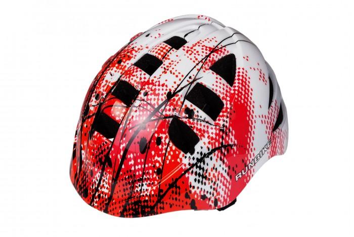 Runbike Защитный шлем RUN28MAЗащитный шлем RUN28MAШлем Runbike детский красно-белый прямоугольные отверстия.   Для катания на Ранбайке (беговеле), самокате, велосипеде.  регулируется под размер головы удобные ремешки и регулировочное кольцо усиленная структура - технология «pro-inmold» эффективная вентиляция  Размер S(48-52), M(52-56)<br>