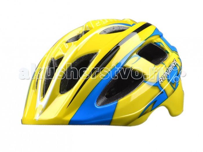 Runbike Защитный шлем RUN35BYЗащитный шлем RUN35BYШлем Runbike детский сине-желтый овальные отверстия.   Для катания на Ранбайке (беговеле), самокате, велосипеде.  регулируется под размер головы удобные ремешки и регулировочное кольцо усиленная структура - технология «pro-inmold» эффективная вентиляция  Размер S(48-52), M(52-56)<br>