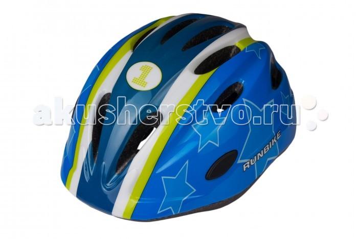 Runbike Защитный шлем RUN63HBЗащитный шлем RUN63HBШлем Runbike детский сине-зеленый овальные отверстия.   Для катания на Ранбайке (беговеле), самокате, велосипеде.  регулируется под размер головы удобные ремешки и регулировочное кольцо усиленная структура - технология «pro-inmold» эффективная вентиляция  Размер S(48-52), M(52-56)<br>
