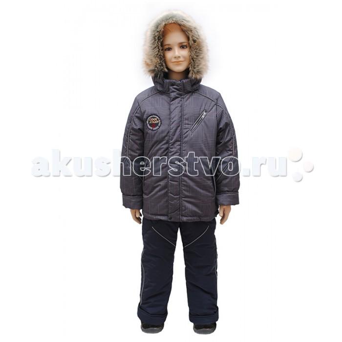 Русланд Комплект зимний КМ14-5Комплект зимний КМ14-5Зимний костюм для мальчика из куртки и полукомбинезона.   Куртка с напульсниками, полукомбинезон с напульсниками, регулируемыми бретелями и отстегивающейся грудкой.   Температурный режим: -30 градусов.  Ткань верх: принц принтованный - 100% полиэстер. Подклад: флис - 100% полиэстер, трикотаж - 100% хлопок, рукава - капрон - 100% полиэстер. Утеплитель: теплофил 100% полиэстер: куртка - 300 гр/м; полукомбинезон - 250 гр/м. Опушка: искусственный мех.  Для изготовления верхней одежды от TM Rusland используются современные прочные материалы, которые обладают высокой степенью износостойкости. Ткани пропитаны специальными составами, обеспечивающими ветронепроницаемость и непромокаемость одежды. Все материалы, используемые для производства детских изделий, абсолютно безопасны для здоровья и жизни детей.<br>