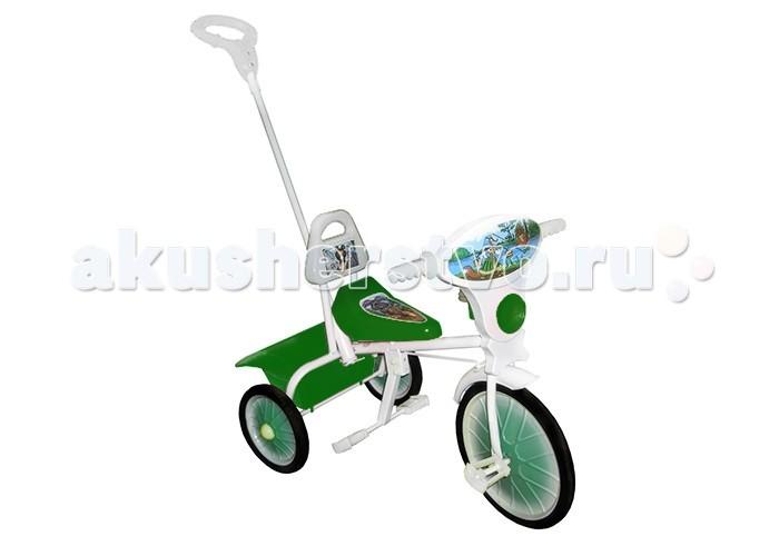 Велосипед трехколесный Russia Малыш 09/2Малыш 09/2Детский прогулочный велосипед на трех колесах Малыш 09/2 с родительской ручкой управления станет прекрасным дополнением на прогулках. Данным велосипедом Ваш малыш может управлять сам, а если устанет, передать управление Вам. С помощью ручки вам будет удобно толкать и поворачивать велосипед.   Для ног ребенка предусмотрена специальная подножка. За рулем трехколесного велосипеда ваш малыш почувствует себя главным на дороге.   С помощью специального гудка он будет оповещать прохожих о своем появлении и просить уступить дорогу. Для удобства сидения кресло велосипеда оборудовано высокой спинкой.  Материал рамы: металл Материал колес: металл + резина  Вес: 4.7 кг Размер: 60 &#215; 35 &#215; 60 см<br>