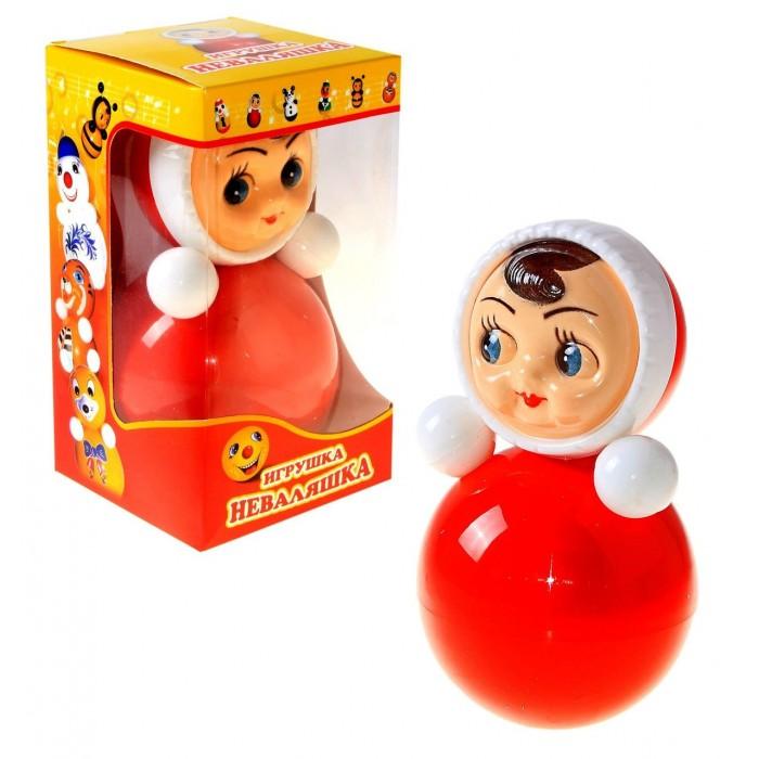 Развивающая игрушка Russia Неваляшка 22 смНеваляшка 22 смИгрушка неваляшка - одна из самых любимых игрушек малышей. Она совмещает в себе погремушку и устройство, благодаря которому неваляшка никогда не упадет.   Яркие цвета и удобная форма игрушки не оставят малыша равнодушным. Кроме того, неваляшка абсолютно безопасна даже для маленьких детей.   При раскачивании издает звук. Неваляшка - игрушка для развития у ребенка цветового, звукового и тактильного восприятия.  Она изготовлена из высококачественного российского пластика по строгим гигиеническим и санитарным нормам.   Высота неваляшки 22 см.   Неваляшка продается в цветной картонной подарочной упаковке.<br>