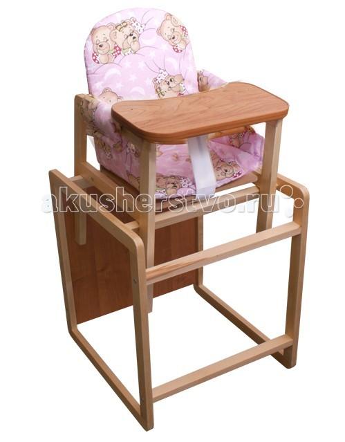Стульчик для кормления Папа Карло МСМССтульчик для кормления, для самых маленьких.   Легко трансформируется в столик и стул.   Удобная широкая столешница из гладкого дерева будет отлично вмещать посуду для кормления и предметы детской гигиены(столешница обработана безопасной пвх кромкой).   Когда ваш активный малыш подрастет, то сможет самостоятельно регулировать спинку и высоту стульчика.  Мягкое тканное сиденье с водоотталкивающей поверхностью.  Забавный принт на спинке.  Есть ремешочек для того чтобы малыш не соскальзывал.  Материал основания - сосна.<br>