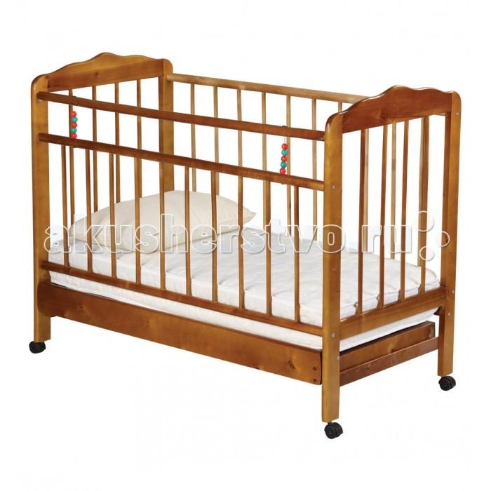 Детская кроватка Russia Женечка-2 (колесо) с ящиком