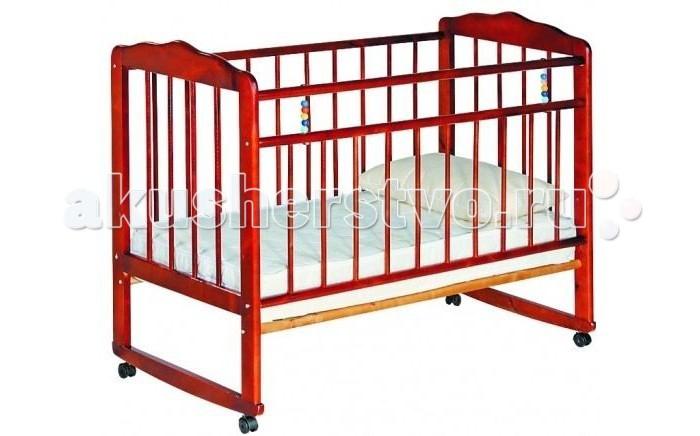 Детская кроватка Russia Женечка-3 (колесо-качалка)Женечка-3 (колесо-качалка)Все начинается с нее, с детской кроватки, человек и так много времени посвящает сну, а ребенок и того больше. Сон необходим малышу, чтобы отдохнуть, набраться сил и снова радовать родителей новыми детскими достижениями и улыбками. Поэтому очень важно, чтобы детская кроватка была комфортной и способствовала крепкому и здоровому сну Вашего ребенка.   Кроватки Женечка изготавливаются из древесины березы на импортном оборудовании. Преимуществом изделий фабрики являются прочность и долговечность, экологическая чистота и удивительное изящество, заложенное самой природой. Продукция фабрики пользуется неизменным успехом у потребителей и поэтому заслуженно награждена различными дипломами.  Характеристики: • оснащена колесами, благодаря которым ее легко перемещать • опускаемая боковина • ложе кроватки имеет два уровня крепления по высоте • реечное основание кроватки • отсутствие выступающих углов и неровностей, что обеспечивает безопасность для малыша • классический дизайн • при снятых колесиках кроватка превращается в качалку • материал – береза (обеспечивает высокую прочность и долговечность)  Размер спального места: 120х60 см.<br>