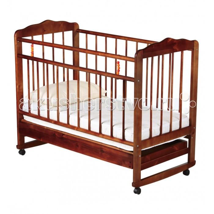 Детская кроватка Russia Женечка-4 (колесо-качалка) с ящиком
