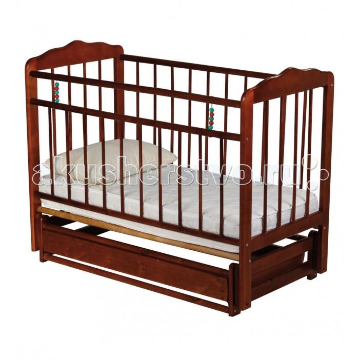 Детская кроватка Russia Женечка-6 (поперечный маятник) с ящиком