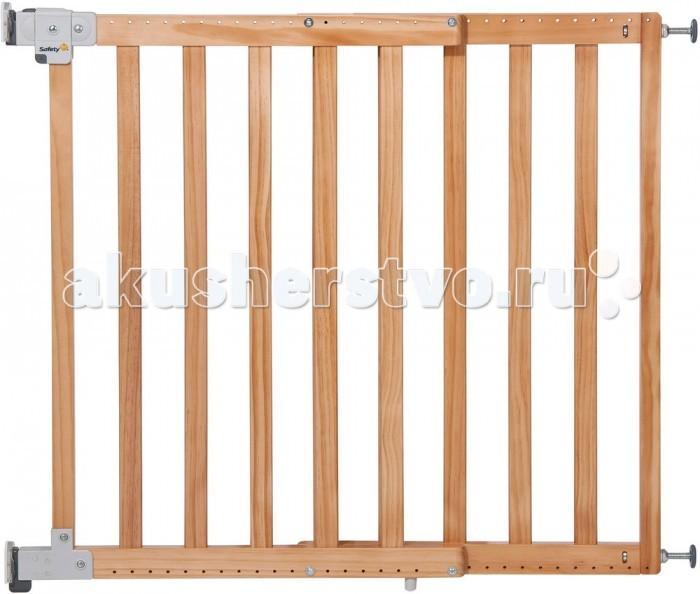 Safety 1st Ворота безопасности Simply Pressure wooden gate XL 63-104 смВорота безопасности Simply Pressure wooden gate XL 63-104 смДетские ворота безопасности Simply Pressure wooden gate XL Safety 1st (63-104 см): барьер-калитка из дерева, для установки в дверной проем обеспечит незапланированное движение ребенка в нежелательные зоны. Защитный барьер легок в установке, оснащен механизмом открывания тройного действия, что исключает возможность открытия калитки ребенком.   Основные характеристики:  предназначен для установки в дверной проем крепится на распорках в обе стороны  закрывается автоматически (самозащелкивающийся механизм)  защитный барьер оснащен механизмом открывания тройного действия, что исключает возможность открытия калитки ребенком взрослый сможет открыть калитку одной рукой  соответствует Европейской норме NFEN 1930   Размеры : ширина от 63 до 104 см<br>