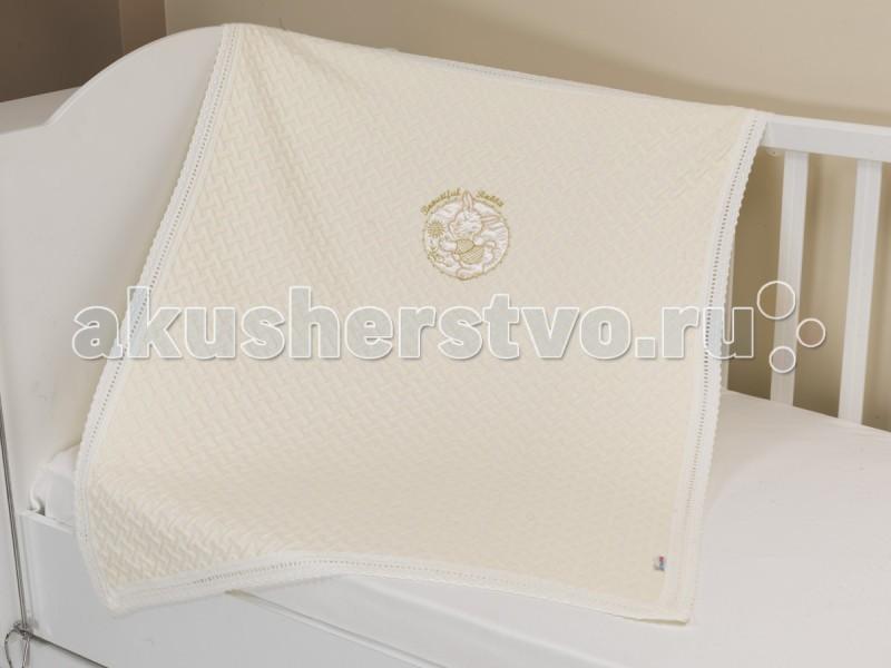 Плед Sansli -покрывало вязаный Зайка 85х120 см
