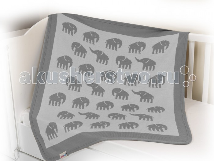 Плед Sansli вязаный Слоны 100х90 см