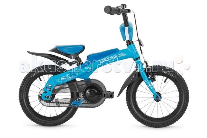 Велосипед двухколесный Scool 2 в 1 Rennrad 14 (беговел)2 в 1 Rennrad 14 (беговел)Уникальный велосипед и беговел (велобалансир 2 в 1) Rennrad 14 для детей от 2-х лет и ростом от 85 см. Особенностью данного велосипеда является то что его можно из беговела собрать в полноценный велосипед с ножным тормозом и одной передачей. В качестве велосипеда есть все необходимое: кожух на цепь, крылья, подъем руля.   Алюминиевая прочная рама дает несравненно малый вес. Благодаря большим колесам с широкой резиной ребенку без труда можно научиться управлять этим беговелом.  Велосипед укомплектован крыльями, звонком. Для безопасности Вашего малыша велосипед оборудован полноценным защитным щитком цепи и мягкой прокладкой, установленной на вынос руля.  Вес - 5.9/8.4 кг Размер колёс - 14 Рама велосипеда - 6061 Aluminium Вилка - HiTen Тип тормозов - Ножной Руль - Junior Uprise 450 mm black Обмотка руля/грипсы - MCI Softgrip 100 mm Вынос - with Crash pad Тормозные ручки - Kids ajustable Передний тормоз - V-Brake+Power Adjuster Задний тормоз - Coaster brake Передняя втулка - SF-HB29F, black Задняя втулка - Coaster brake, black Обода колес - LA-07 alloy color Покрышки - SCOOL Speedster 14x2.00 Ballon Reflex Logo Кассета - 16 T Каретка - CH-47 Compact Система - SOFOH 28 T, 89 mm, black Педали - non-slip with reflectors transparent Крылья - Пластиковые крылья Подседельный штырь - im Sattel with saddle<br>