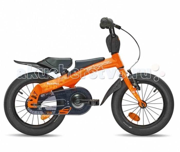 Велосипед двухколесный Scool 2 в 1 Rennrad 14 (беговел)
