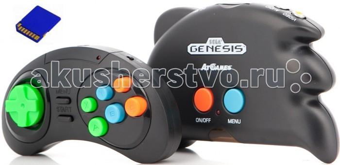 Sega Игровая приставка Genesis Nano Trainer + 390 игр + SD карта + адаптер + кабель USB