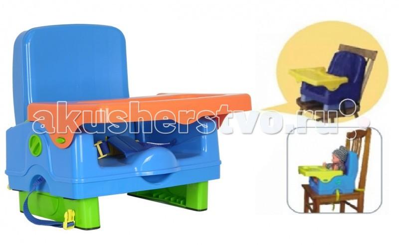Стульчик для кормления Selby BH-410BH-410Стульчик Selby BH-410 крепится на обычный стул со спинкой при помощи специальный ремней. Поверхность стульчика легко мыть. Стульчик идеален для путешествий, его легко взять в поездку, занимает мало места.  съёмный столик трёхточечный ремень безопасности ремни для крепления к стулу  Габариты и вес Размеры (ДхШхВ) – 37 х 33х 39 см<br>