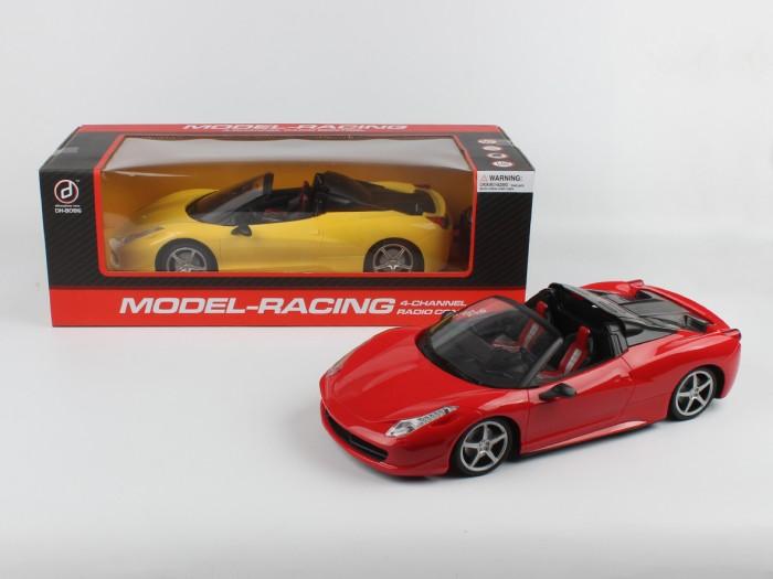 Shenglong Машина на радиоуправлении Model Racing 1:24Машина на радиоуправлении Model Racing 1:24Shenglong Машина на радиоуправлении Model Racing 1:24  Представляет собой модель машинки, управляемую с помощью пульта дистанционного радиоуправления. Машинка двигается вперед, назад, поворачивает влево, вправо, горят передние фары  Возраст: от 3 лет Масштаб: 1:24 Комплект: машинка, пульт управления.<br>