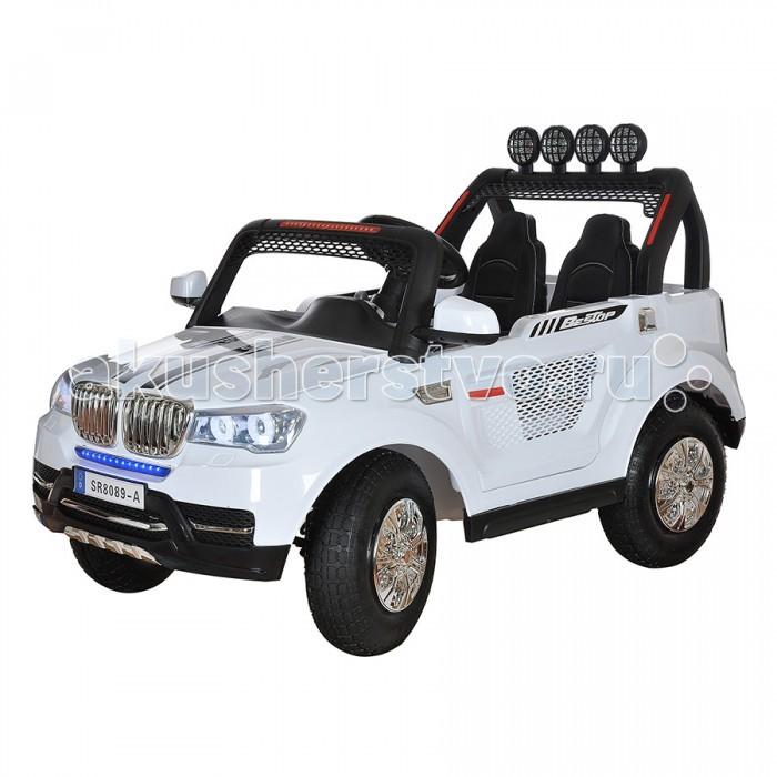 Электромобиль Shine Ring 12V/10Ahх212V/10Ahх2Shine Ring Электромобиль 12V/10Ahх2 SR8089-A  Характеристики: Материал колес: надувные колеса-резина Материал корпуса: Высококачественный ударопрочный пластик Количество аккумуляторных батарей: 1 Напряжение одной аккумуляторной батареи: 12V Емкость одной аккумуляторной батареи: 10A/h Количество мотор-редукторов: 4 Педаль газа Количество открывающихся дверей: 2 Амортизаторы на передней оси Амортизаторы на задней оси Светодиодные передние фары Светодиодные задние фонари Функция медленного старта Количество скоростей вперед: 3 Количество скоростей назад: 1 Разъем для подключения Mp3 девайсов Наличие провода для подключения Mp3 девайсов Слот для карты памяти Micro SD Разъем для подключения USB FM радио Регулировка громкости Пульта Дистанционного управления Радиочастота пульта ДУ: 2,4 Ghz Звуковые эффекты Кожаный чехол на сиденье Ремень безопасности Электроусилитель руля Запуск двигателя кнопкой Максимальная скорость: 5км/ч Время зарядки: 8-10 часов Время работы от аккумуляторной батареи: 1-1.5 часа Максимальная нагрузка: 50кг<br>