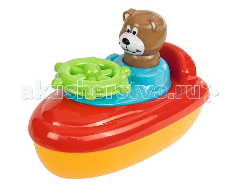 Simba ABC Игрушка для купания Лодка с фигуркойABC Игрушка для купания Лодка с фигуркойИгрушка для купания Simba ABC Лодка с фигуркой  В руль встроена трещетка<br>