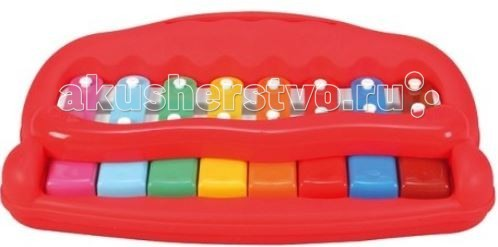 Музыкальная игрушка Simba ABC Мое первое пианиноABC Мое первое пианиноМузыкальный инструмент Simba ABC Мое первое пианино   Вместе с пианино в наборе идут карточки, на которых нарисованы ноты песен. Малышу понравится нажимать на клавиши разного цвета и слышать мелодии, которые он играет.  Такая игра будет развивать у малыша восприятие звуков, мелкую моторику рук и усидчивость, а также внимательность и терпение.  Для работы пианино потребуются батарейки  Размер: 40 см<br>