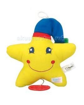 Подвесная игрушка Simba ABC музыкальнаяABC музыкальнаяМузыкальная игрушка Simba ABC   Особенности:    Игрушка представлена в трех вариациях - улыбающиеся солнышко, луна или звездочка.   Если игрушку развернуть - на обратной стороне она будет изображена спящей.  Дружелюбные лица обрадуют малыша, и он так же радостно будет улыбаться им в ответ.   Мягкий материал приятно трогать детскими ручками, а чтобы игрушка заиграла волшебную музыку, достаточно потянуть за веревочку.   Поначалу малыш будет удивляться подобным чудесам, а потом и сам научится тянуть веревочку, чтобы вызвать музыку.   Удобная петелька вверху игрушки позволит подвесить ее над кроваткой, на стене, или в коляске, чтобы любимая музыка всегда была    Размер: 18 см<br>