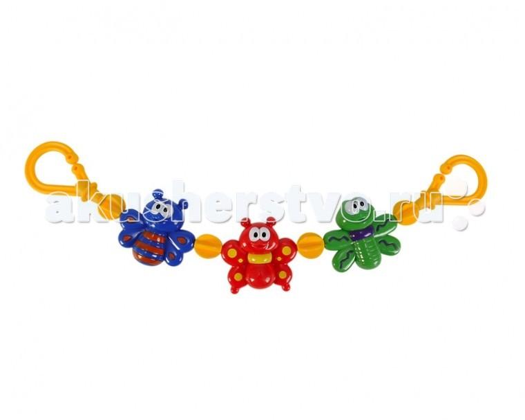 Подвесная игрушка Simba ABS Веселые животныеABS Веселые животныеПодвесная игрушка Simba ABS Веселые животные поспособствует умению фокусировать взгляд на объектах и распознаванию цветов.   Она очень легко крепится к коляске.   Размер: 50 см<br>