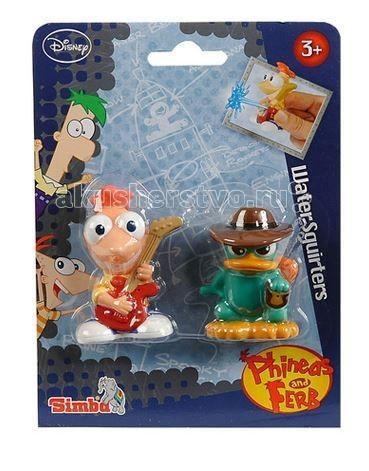 Simba Брызгалки Финис и ФербБрызгалки Финис и ФербИгрушка для купания Simba Брызгалки Финис и Ферб  Игровой набор включает 3 резиновых брызгалки в виде фигурок персонажей из известного мультфильма.  В каждой фигурке есть небольшое отверстие, с помощью которого можно набирать воду и, если их сжать, они - брызгаются!  Размер: 7 см<br>
