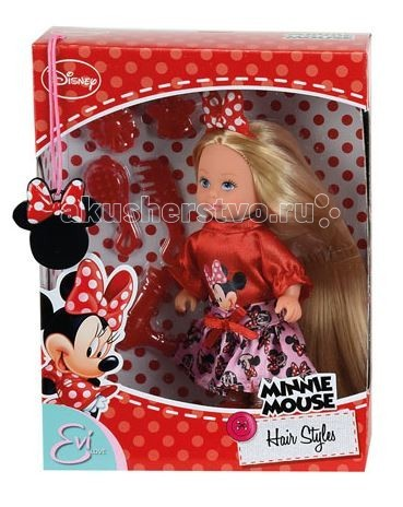 Simba Кукла Еви Minnie Mouse длинные волосы