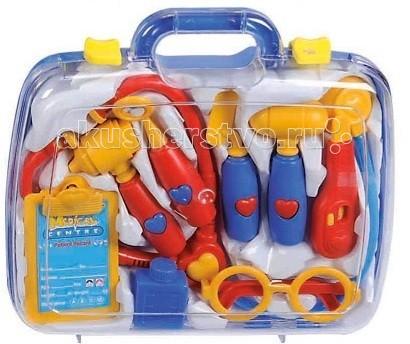 Simba Набор инструментов в чемоданчике World of ToysНабор инструментов в чемоданчике World of ToysНабор инструментов в чемоданчике Simba World of Toys   Этот игровой набор, бесспорно, поможет вашему малышу в развитии, так как он считается обучающим, с ним малыш сможет развить мелкую моторику рук и ловкость. Также данные игрушки помогут найти малышу профессию или увлечение в его дальнейшей жизни. Так как его могут интересовать сразу несколько профессий — доктор или строитель.  В игровом наборе находятся строительные инструменты или набор доктора.<br>