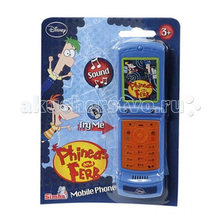 Развивающая игрушка Simba Телефон Герои ДиснеяТелефон Герои ДиснеяТелефон Simba Герои Диснея  На телефоне изображены любимые герои детских мультфильмов. Каждая кнопочка телефона при нажатии издает свой звук.<br>