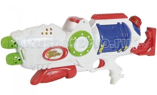 Simba Водное оружие двухствольное 50 смВодное оружие двухствольное 50 смВодное оружие Simba двухствольное - это водяное оружие, которое идеально подойдет для игры на свежем воздухе. Вам достаточно лишь наполнить специальный резервуар водой и можно начинать стрелять.  Отлично стреляет на дальнее расстояние. В отличии от обычных водяных пистолетов, это водное ружье стреляет сразу двумя струями.   Длина: 50 см<br>