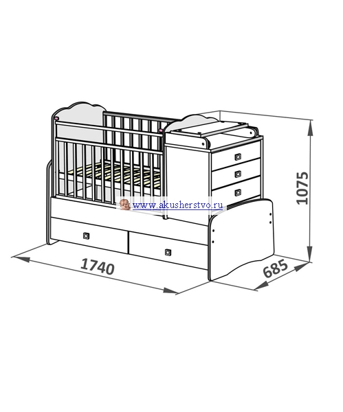 Кроватка для новорожденных своими руками чертежи