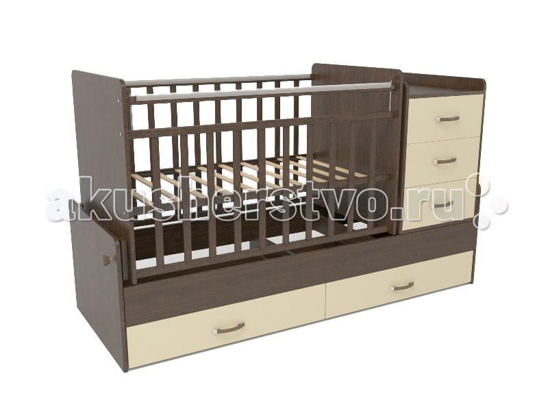 Кроватка-трансформер СКВ Компани СКВ-5 54403 поперечный маятник