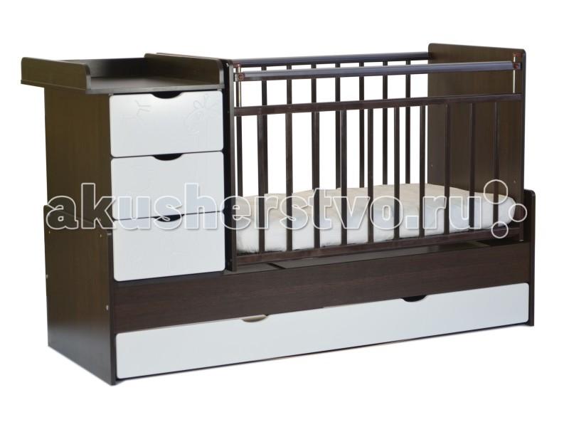 Кроватка-трансформер СКВ Компани СКВ-5 Жираф (поперечный маятник)