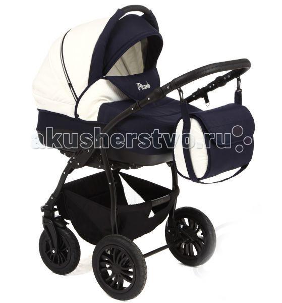 Коляска Slaro Piccolo 2 в 1Piccolo 2 в 1Коляска Slaro Picollo предназначена для детей от рождения до 3-х лет, так как в комплекте есть и люлька, и прогулочный блок. Она выполнена с использованием высококачественных легких дышащих материалов.  Отличную проходимость и маневренность на дороге детской коляске обеспечивают надувные колеса и амортизация, а пятиточечные ремни безопасности и ножной стояночный тормоз - максимальную безопасность. Коляска подойдет и в зимний и в летний периоды, имеет объемный защитный капюшон и утепленную накидку на ножки.  Рама: Легкая и прочная алюминиевая рама Пружинная амортизация Надувные колеса на подшипниках как спереди так и сзади Регулируемая по высоте ручка Ширина шасси - 59 см Вес коляски - 15 кг Корзина для покупок Передние колеса поворотные с фиксатором  Люлька Slaro: Изготовлена из высококачественных материалов Регулируемая спинка Внутренние размеры люльки: 80 см х 35 см х 24 см  Прогулочный блок Slaro Piccolo: Спинка регулируется в трех положениях Пятиточечные ремни безопасности с мягкими накладками Регулируемая подножка<br>