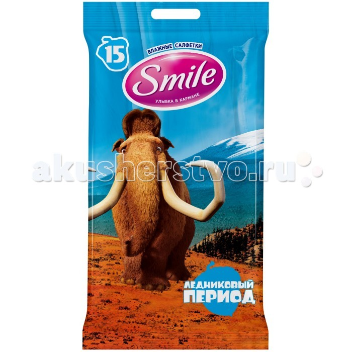 Smile Салфетки влажные Ice age mix 15 шт.