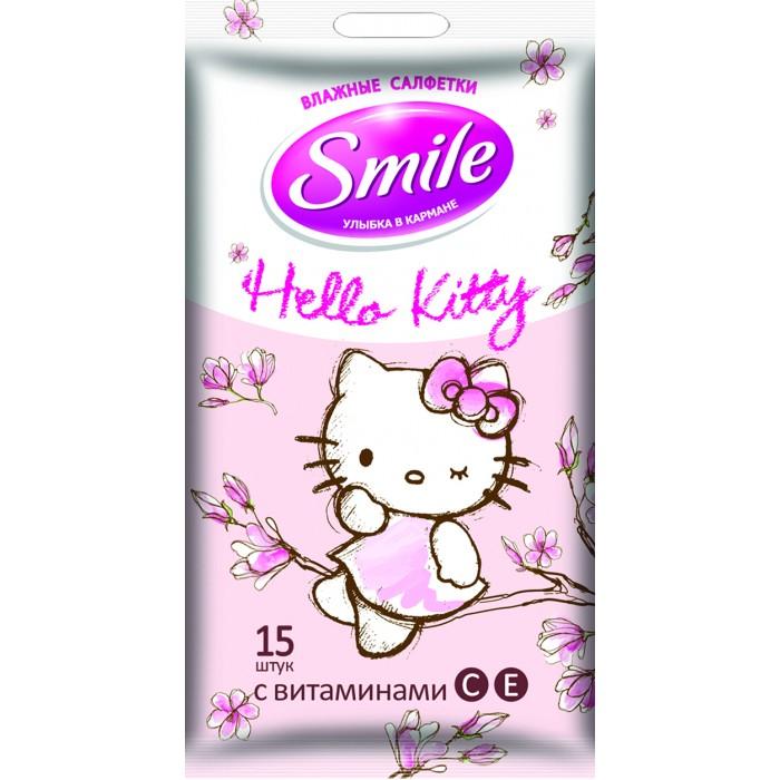 Smile Салфетки влажные Hello Kitty 15 шт.