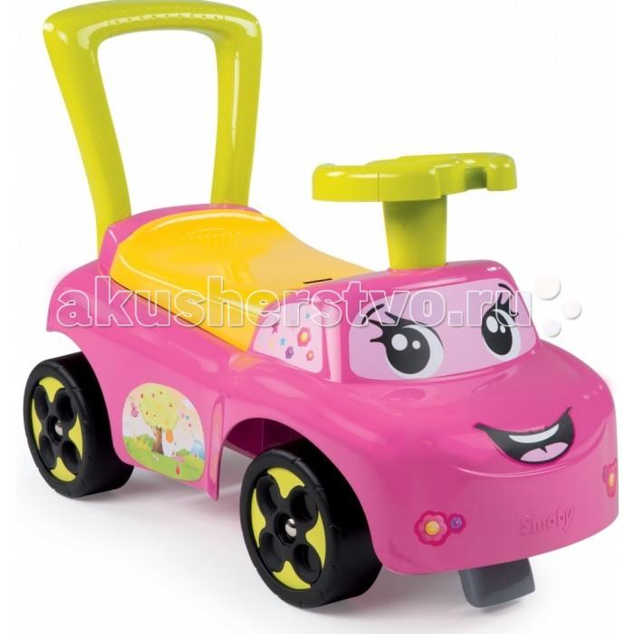 Каталка Smoby 443016443016Каталка Smoby 443016 предназначена для езды малышей от 10-ти месяцев и для помощи обучению хождения. Такая машинка будет стимулировать детей к активным действиям, развитию общей моторики и владению собственным телом.  Особенности: Машинка изготовлена из упрочненного пластика.  В машинке есть ящичек под сидением, куда малыш может убрать свои игрушки. У каталки есть удобная спинка - держась за нее малыш может учиться ходить. Для поддержания равновесия у каталки спереди и сзади есть стопор. Машинка выполнена в споривном стиле.<br>