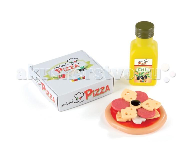 Smoby Мини пицца-бургерМини пицца-бургерМини пицца-бургер Smoby  – прекрасное дополнение к играм детей в кухню, магазин или ресторан.    Особенности:    Набор представлен в ассортименте, в 2-х вариантах.   Пиццу или бургер можно собрать и разобрать. Таким образом игрушка является в том числе и конструктором.   В набор входит либо пицца с коробочкой и бутылочкой с маслом, либо бургер с пакетиком и бутылочкой кетчупа.   Набор выполнен из высококачественной нетоксичной пластмассы.   Игра детей с подобными наборами прекрасно развивает фантазию и воображение ребенка в процессе придумывания различных ролевых ситуаций, а также развивает мелкую моторику и тактильные ощущения.<br>